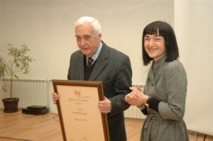 Miodrag Ilić - Nagrada za životno delo - UNS - 2009.